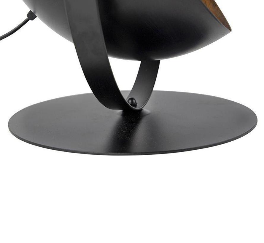 Tafellamp Magna zwart met goud