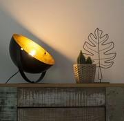 QAZQA Tafellamp Magna zwart met goud