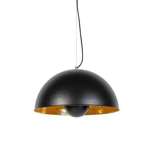 QAZQA Hanglamp Magna 50 Zwart met Goud