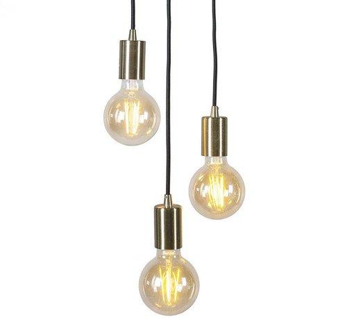 QAZQA Hanglamp Facil 3 Goud