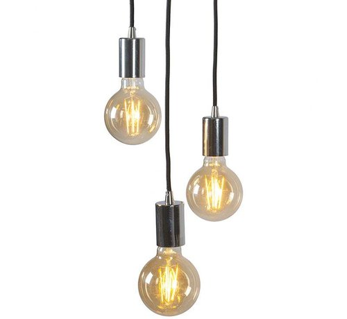 QAZQA Hanglamp Facil 3 Chroom