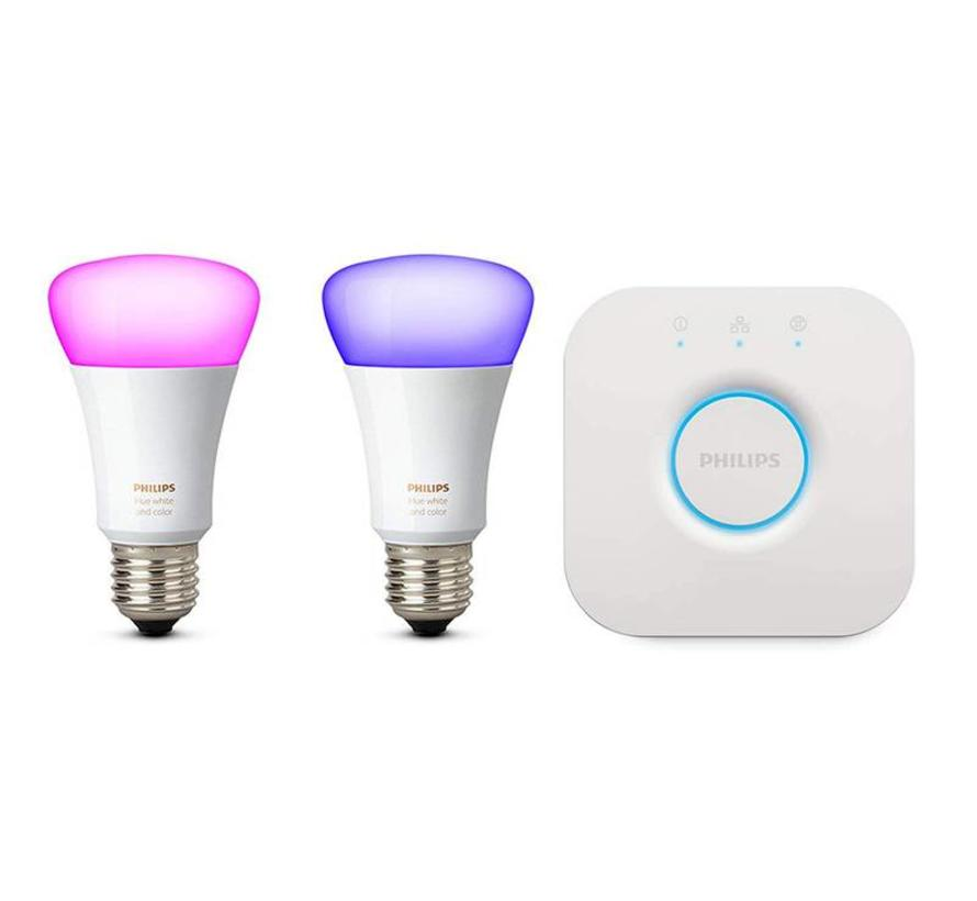 Philips Hue White and Color Ambiance E27 Duopack met Bridge