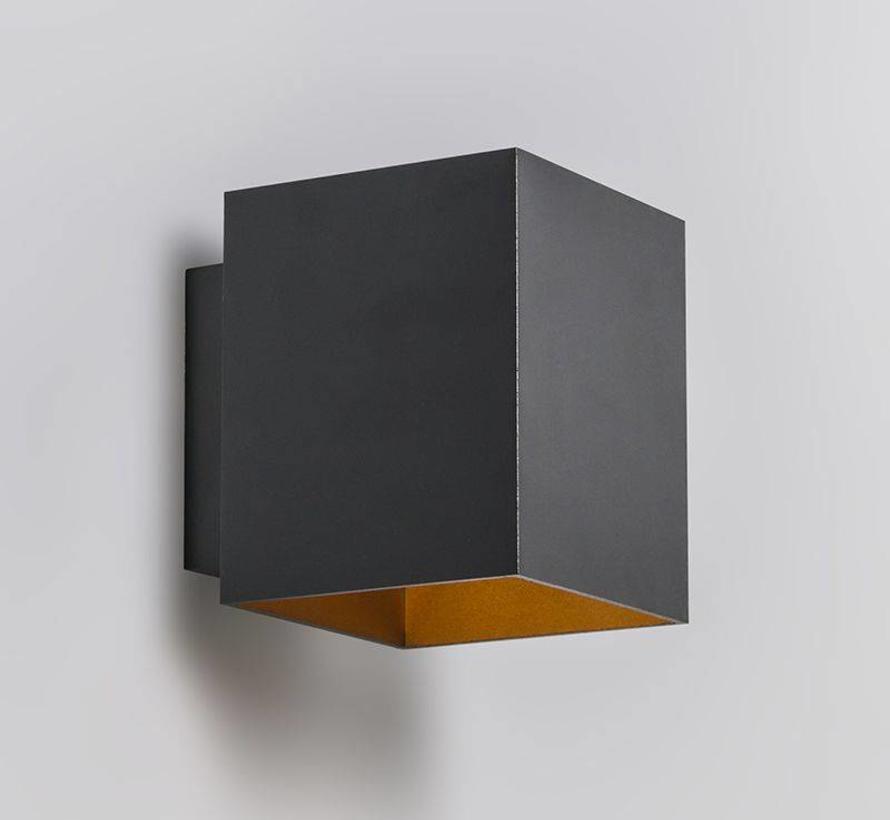 Wandlamp Sola Zwart / Goud