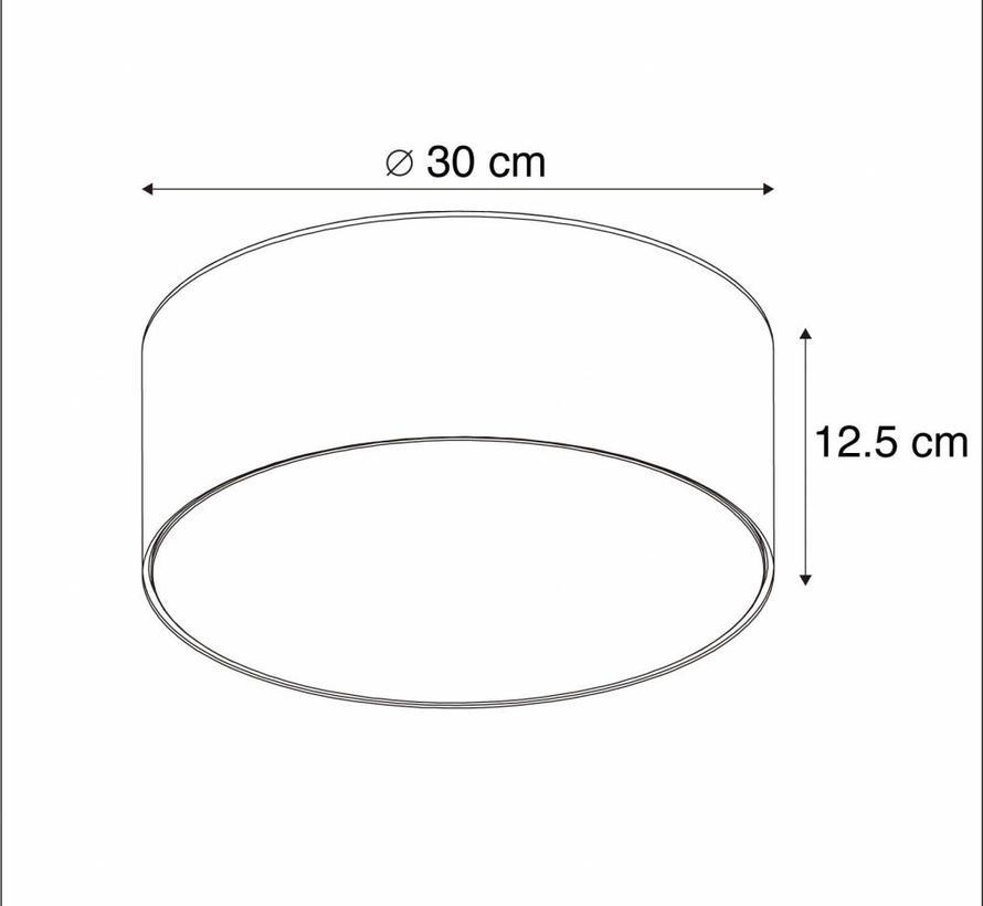 Plafonniere Drum LED 30 grijs