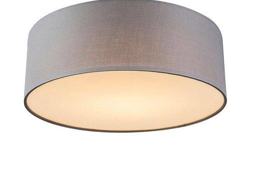 QAZQA Plafonniere Drum LED 30 grijs