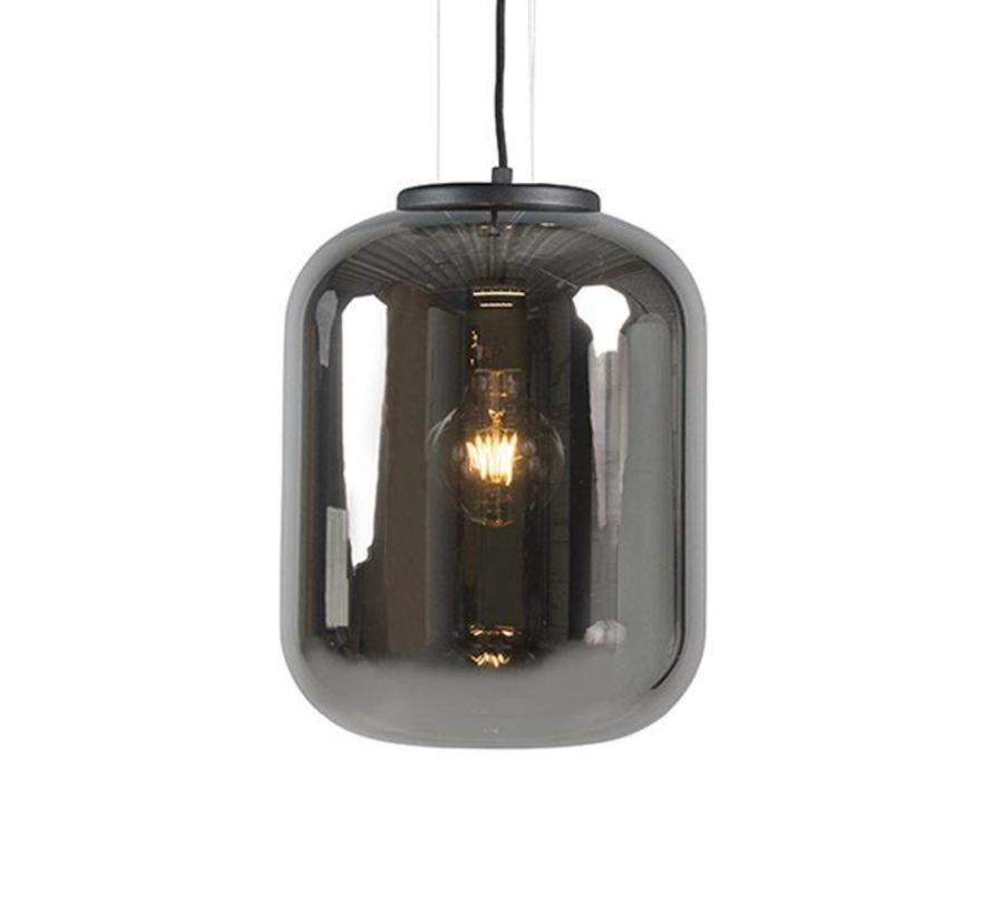 Hanglamp Bliss zwart smoke glas