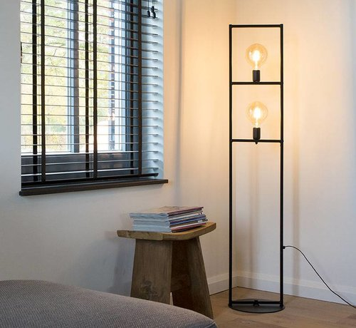 QAZQA Vloerlamp Simple Cage