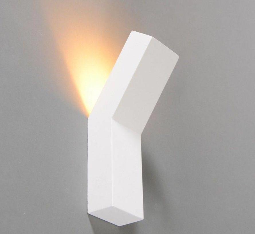 Wandlamp Gips Lyon vierkant