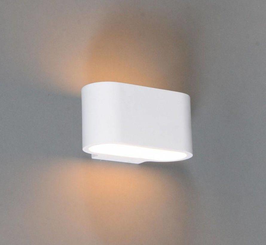 Wandlamp Gips Arles Plat