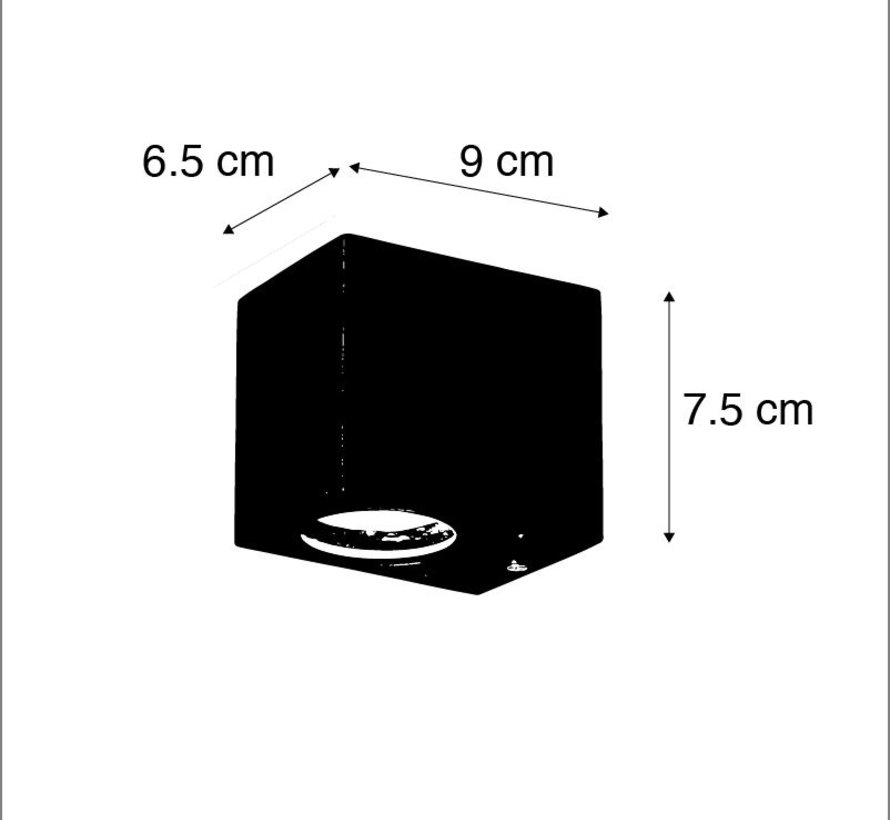 Wandlamp buiten Baleno 1 Staal