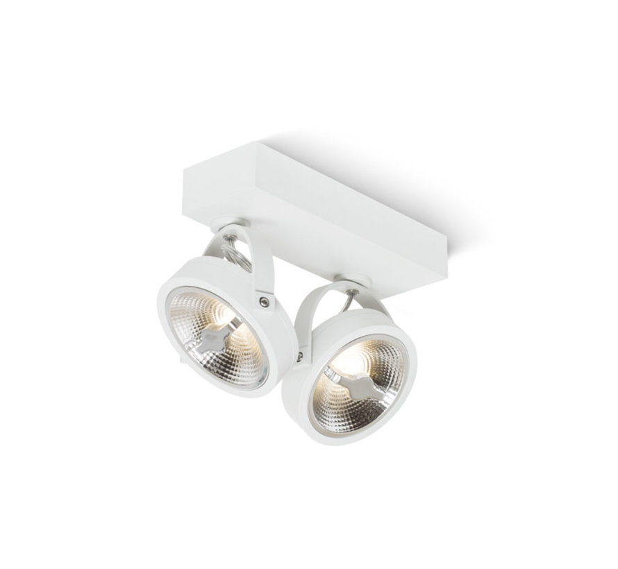Opbouwspot Brooklyn LED 2-lichts wit
