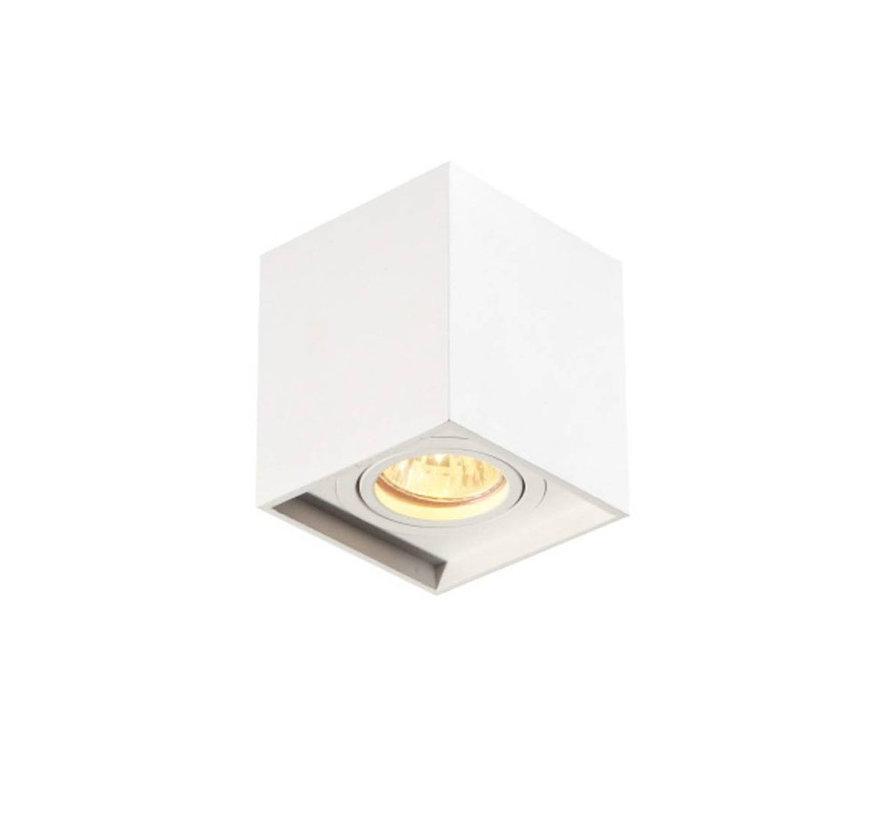 Opbouwspot New York GU10 vierkant 1-lichts Wit