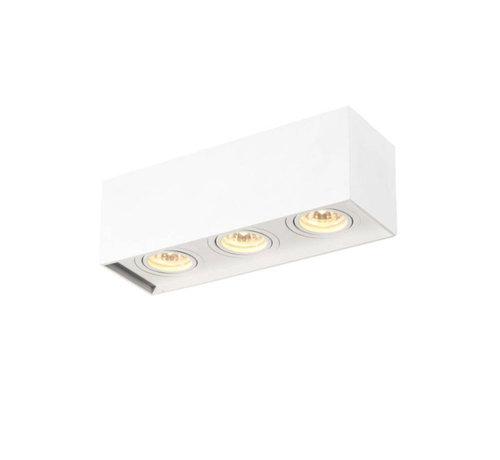 DMQ Opbouwspot New York GU10 vierkant 3-lichts Wit
