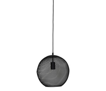 Light & Living Hanglamp Reilley rond 30 mat zwart