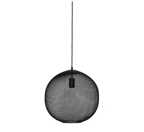 Light & Living Hanglamp Reilley rond Ø50 mat zwart