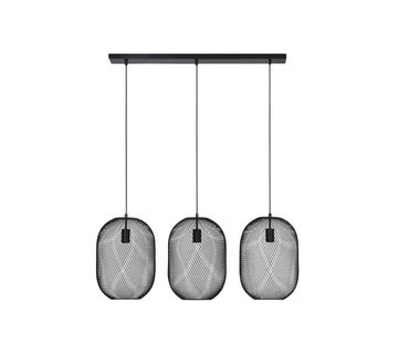 Light & Living Hanglamp Reilley 3L mat zwart