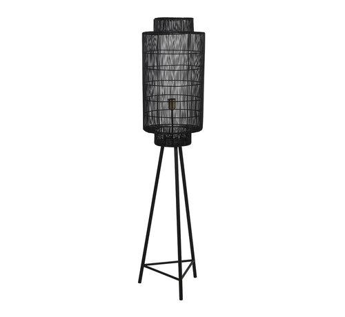 Light & Living Vloerlamp Gruaro zwart Ø32x150 cm