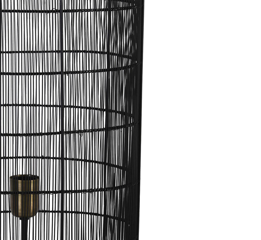 Vloerlamp Gruaro zwart Ø32x125 cm