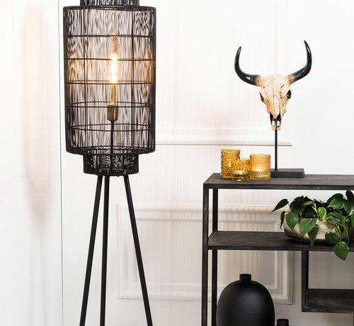 Light & Living Vloerlamp Gruaro zwart Ø32x125 cm