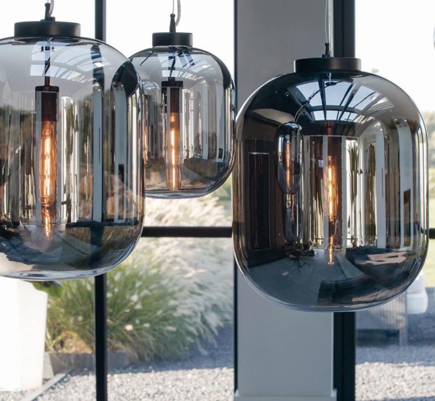 Hanglamp Julia Ø35x42,5 cm Smoke Glas