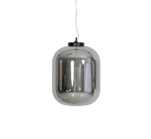Light & Living Hanglamp Julia Ø35x42,5 cm Smoke Glas