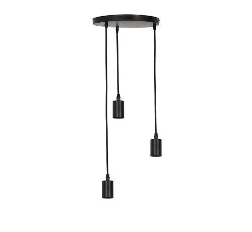 Light & Living Hanglamp Brandon 3-lichts Zwart
