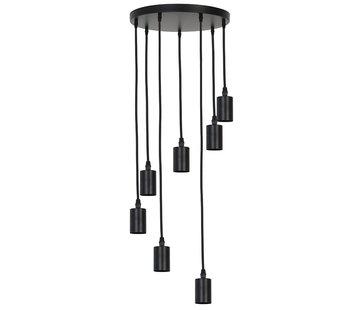 Light & Living Hanglamp Brandon 7-lichts Zwart