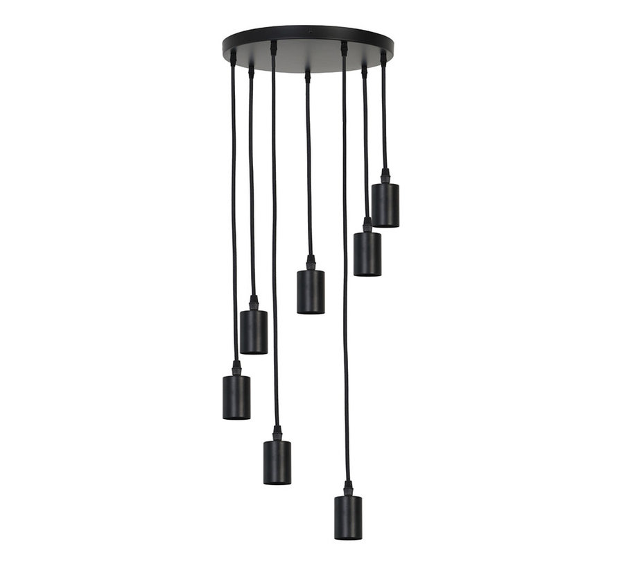 Hanglamp Brandon 7-lichts Zwart