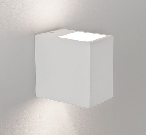 DMQ Wandlamp Gips Arles Rechthoek G9