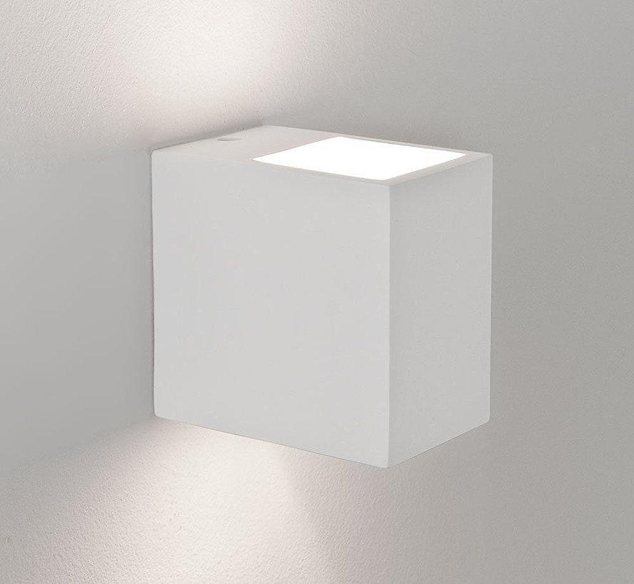 Wandlamp Gips Arles Rechthoek G9