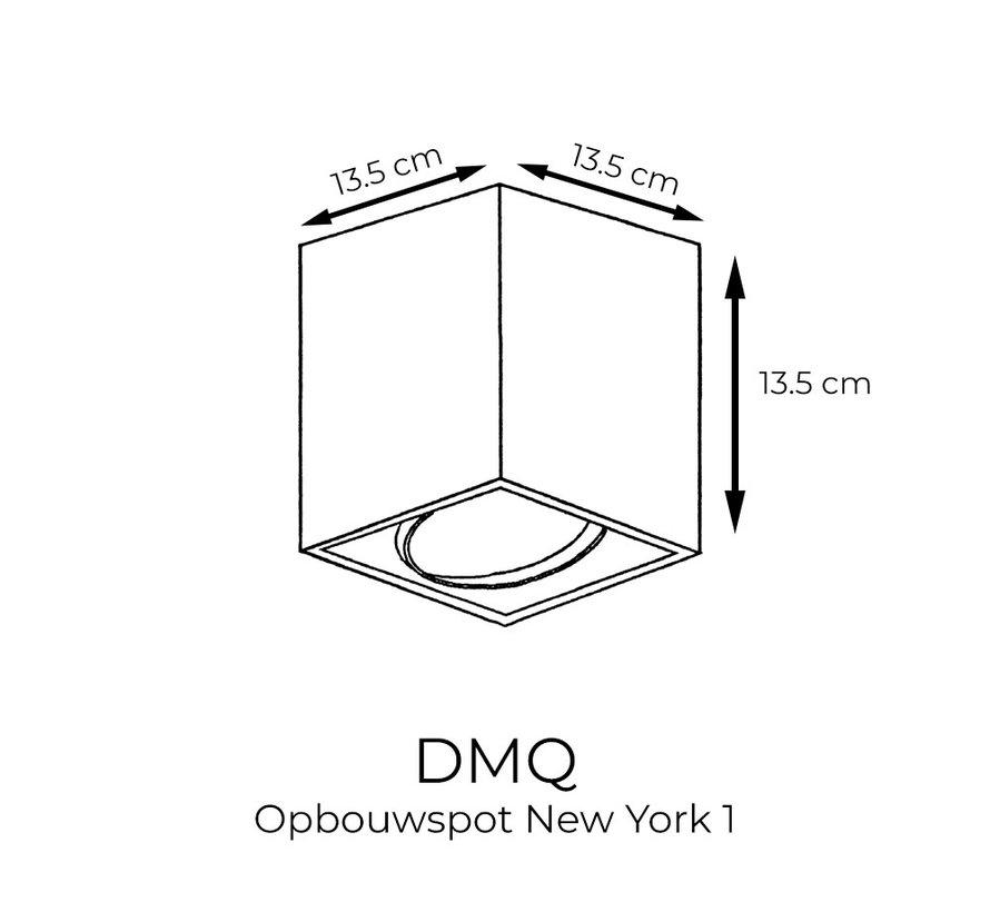 Opbouwspot New York 1-lichts Zwart