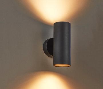 DMQ Wandlamp Elmont 2 Zwart Rond