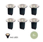 DMQ DMQ  Grondspot IP67 - Set van 6 stuks incl LED