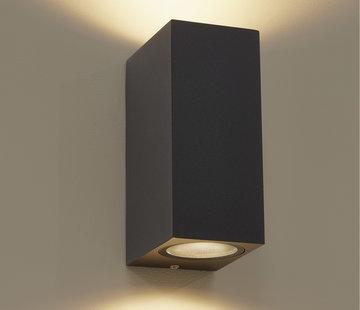 DMQ Wandlamp buiten Delmont 2 Zwart