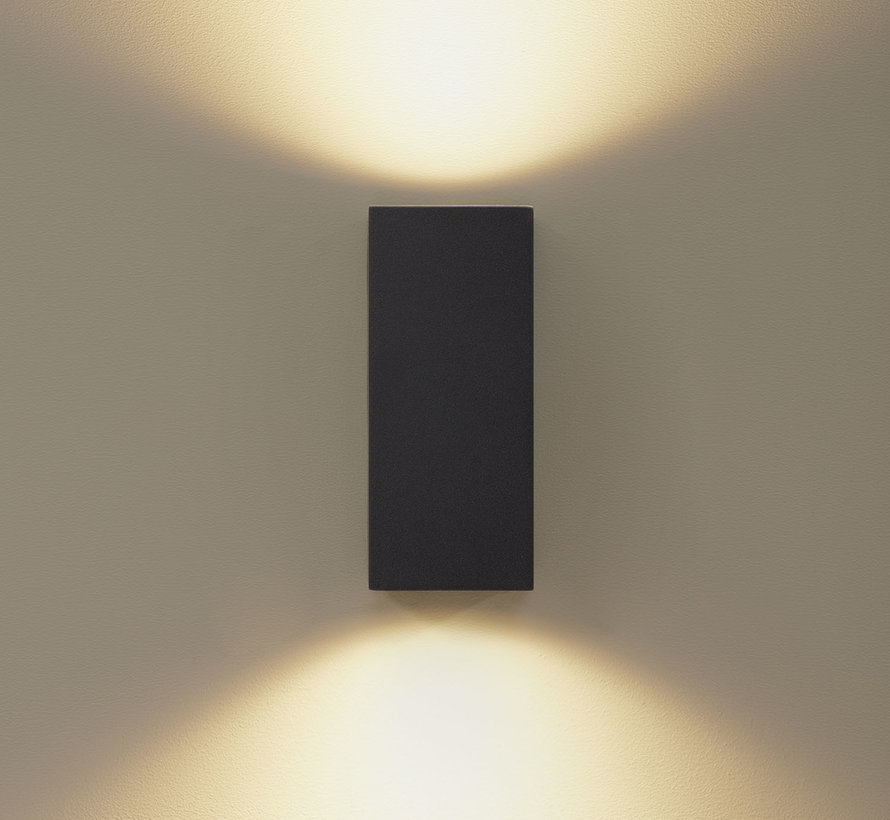 Wandlamp buiten Delmont 2 Zwart