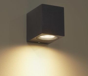 DMQ Wandlamp buiten Delmont 1 Zwart