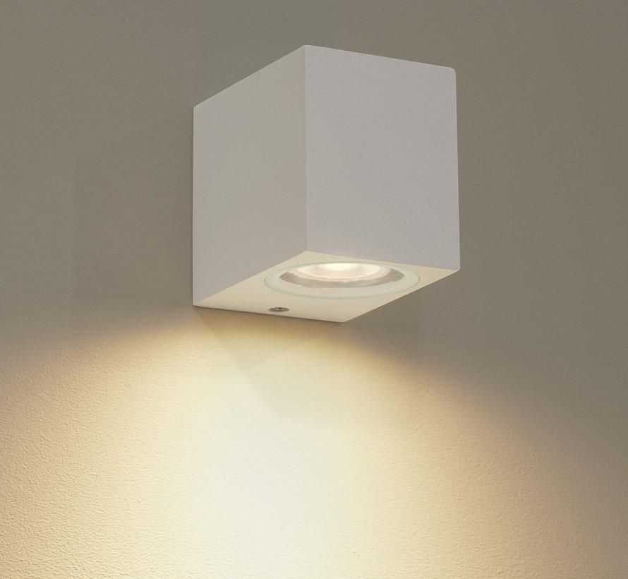 Wandlamp buiten Delmont 1 Wit