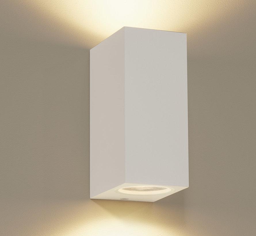 Wandlamp buiten Delmont 2 Wit