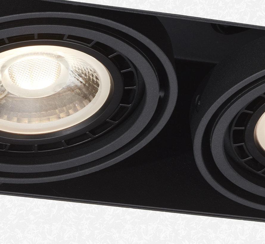 Trimless inbouwspot Milton 2 Zwart - AR111 G53