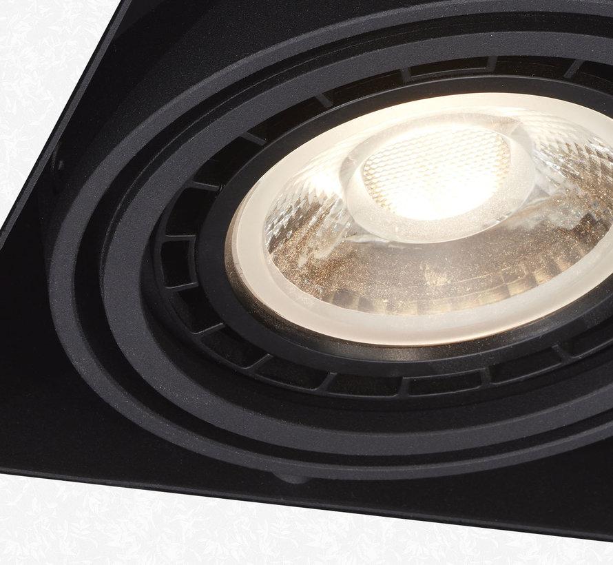 Trimless inbouwspot Milton 1 Zwart - AR111 G53