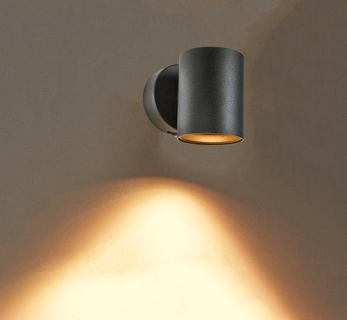 DMQ Wandlamp Elmont 1 Zwart Rond
