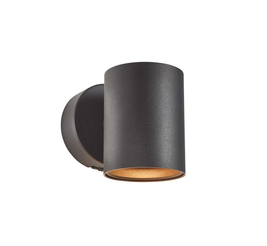 Wandlamp Elmont 1 Zwart Rond