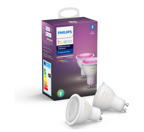 Philips Philips Hue GU10 Duopack - White and Color Ambiance - 2 lampen - Bluetooth