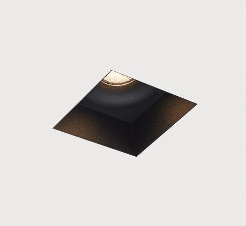 DMQ Trimless inbouwspot Rezo vierkant zwart - GU10