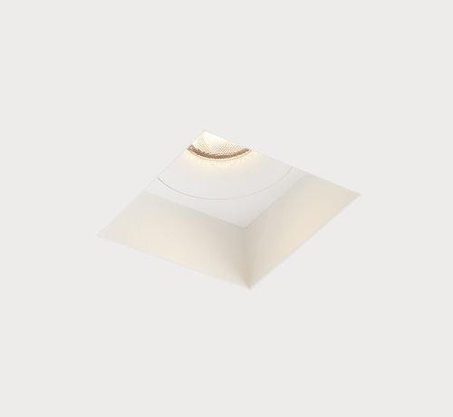 DMQ Trimless inbouwspot Rezo vierkant wit - GU10