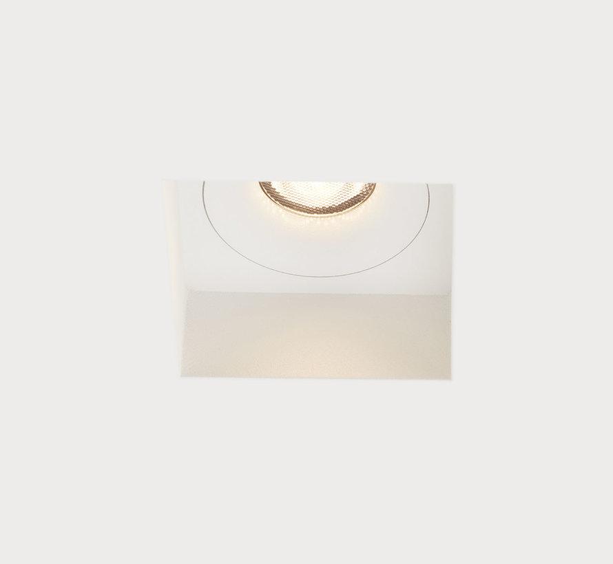 Trimless inbouwspot Rezo vierkant wit - GU10