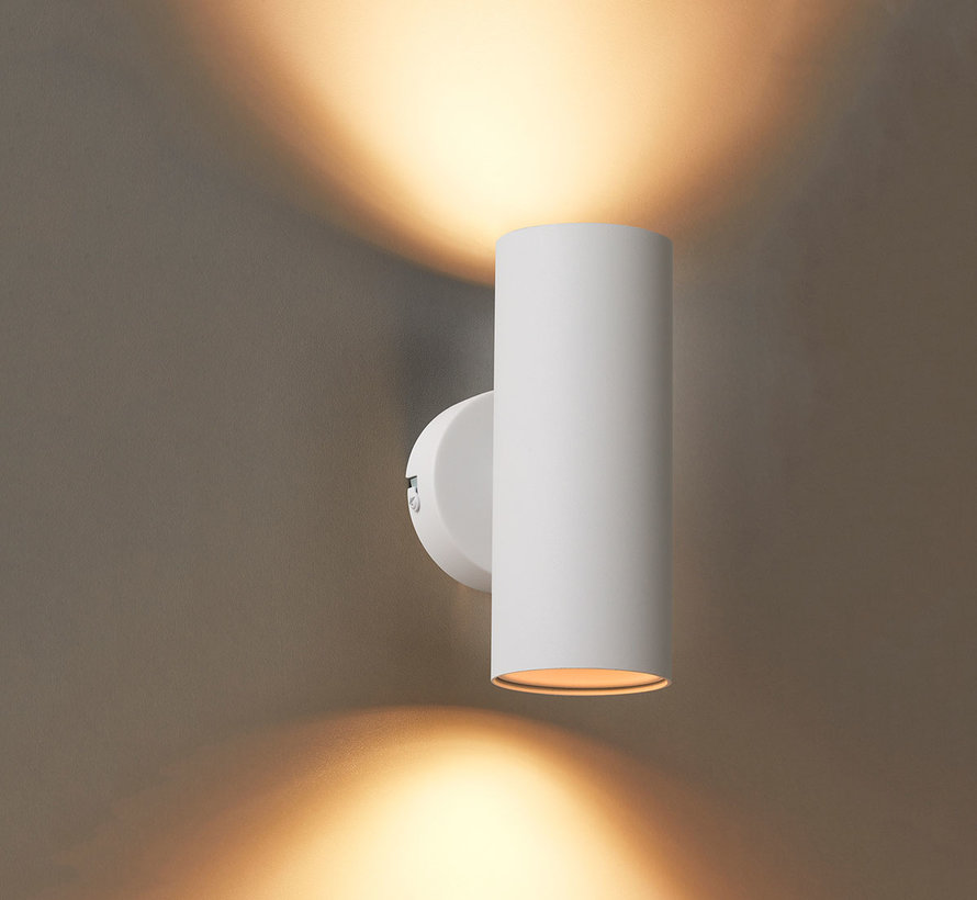 Wandlamp Elmont 2 Wit Rond
