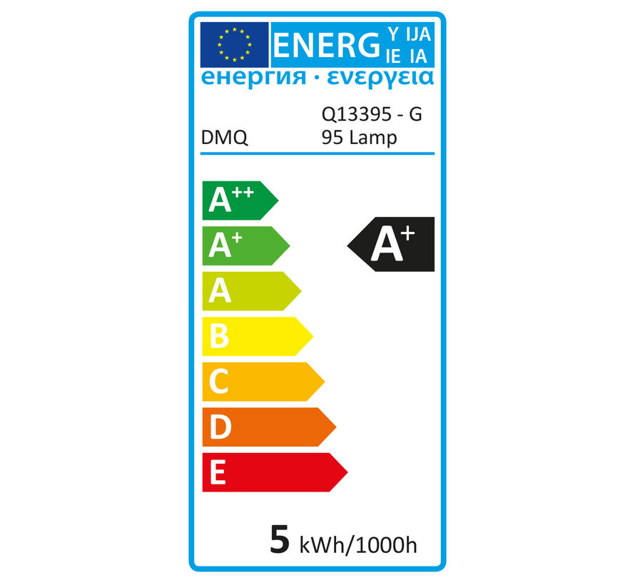 DMQ Filament LED Lamp G95 5W - Dimbaar