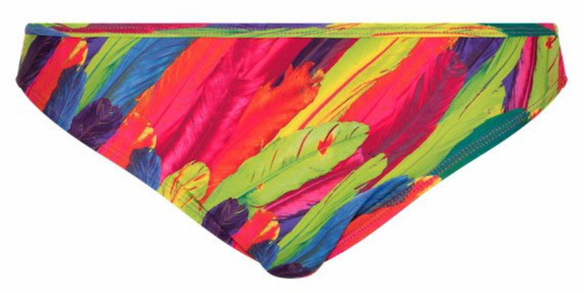 LingaDore LingaDore Beach Rainbow bikinislip in kleurrijke tropische verenprint