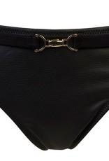 Sapph Sapph Beach Namkee  bikinislip zwart leatherlook
